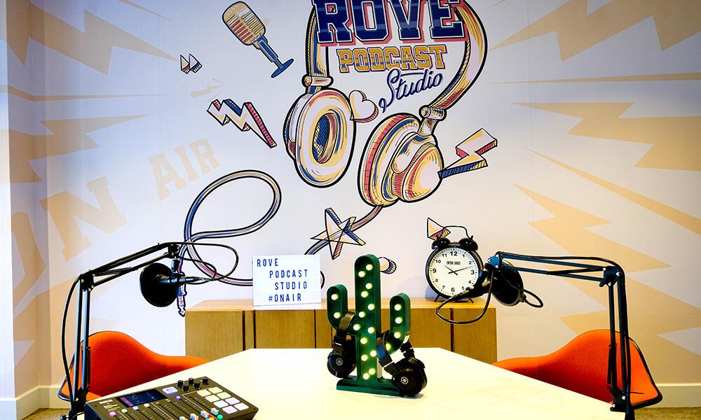 Rove podcast studio